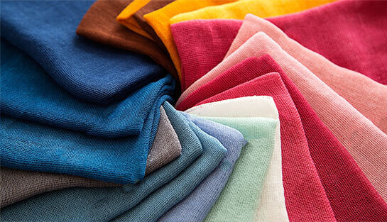 Textile fabrics in multiple colors