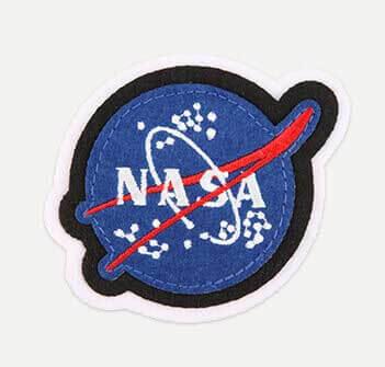 Nasa logo on a fuzzy patch