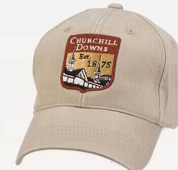 Shield logo on a cap