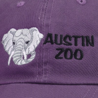 Austin Zoo with a gray elephant on the side